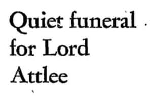 Attlee funeral 1967