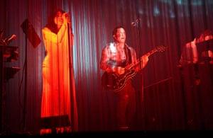 Coachella: Mariqueen Maandig Reznor and Trent Reznor of How to Destroy Angels