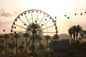 Coachella: The Coachella ferris wheel at sunset on day one