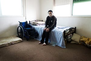 Giles Duley: Shaher, 22, a refugee, who is paralysed