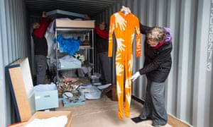 Francesca Franchi of the Royal Opera House checks Monica Mason's costume from The Rite of Spring
