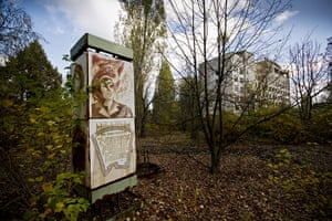 Chernobyl exclusion: The town is slowly disappearing into the growing foliage