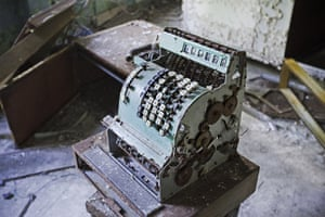 Chernobyl exclusion: A cash register in the school canteen