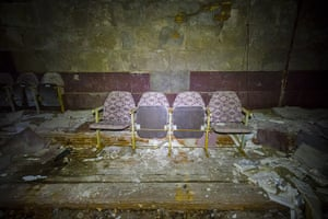 Chernobyl exclusion: The last remaining seats in Pripyat's main cinema