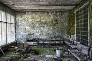 Chernobyl exclusion: A hospital waiting room