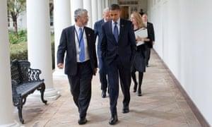 John Holdren and Barack Obama