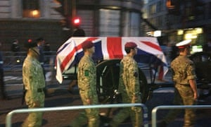 Margaret Thatcher's funeral dress rehearsal takes place in London