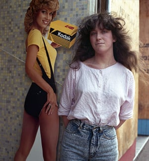 Big Picture - Rob Bremner: woman with long hair standing in front of kodak film advert