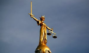 Statue of Justice on top of the Old Baile