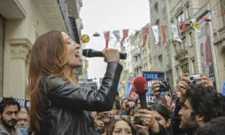 The Emek theater protest in Istanbul