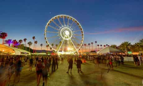 The ferris wheel at the Coachella