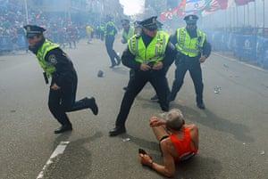boston gallery: Explosions At 117th Boston Marathon