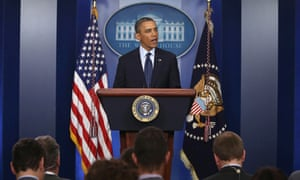 President Barack Obama speaks about the explosions at the Boston Marathon, at the White House.