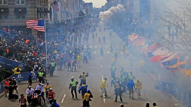 Two blasts at Boston Marathon kill three and injure more