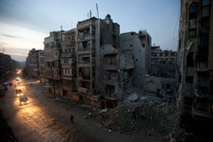 Pulitzer prize: Night falls on a Syrian rebel-controlled area of Aleppo