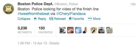 Boston police tweet