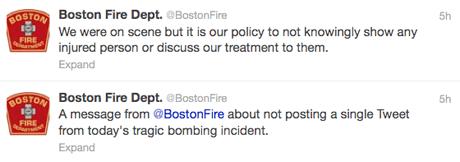 Boston fire tweet