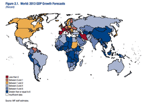 Map of IMF growth forecasts