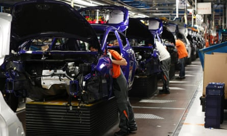 General view of the assembly line of the new Ford Fiesta in Cologne, February 4, 2013.