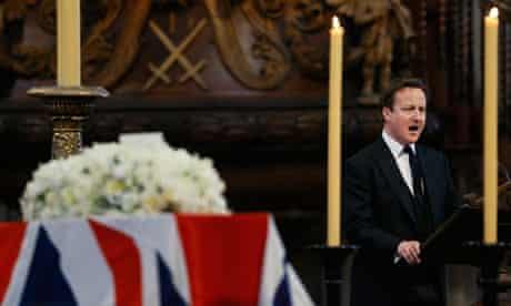 David Cameron delivers a reading