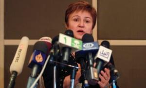 European Union Commissioner for International Cooperation, Humanitarian Aid and Crisis Response Kristalina Georgieva.