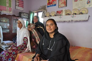 Rukhsana Masood Raja runs immunisation sessions out of her own front room in Pakistan