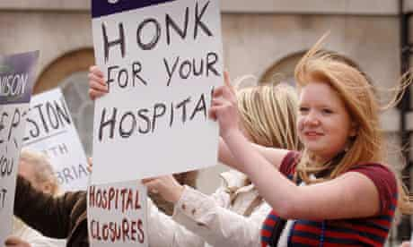 Protest against hospital closures