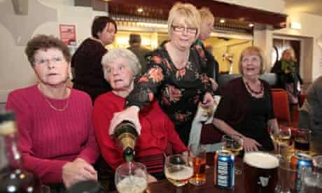 Scottish miners celebrate Thatcher funeral
