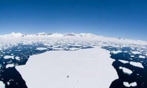 Ice melt in Antarctica