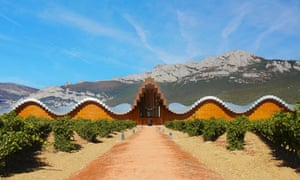 The spectacular Ysios winery by architect Santiago Calatrava