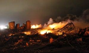 West fertiliser plant fire