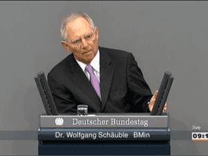 Wolfgang Schauble, at the Bundestag debate on Cyprus