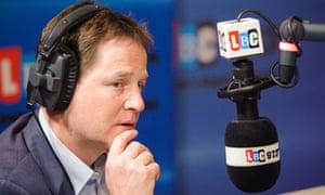 Nick Clegg on LBC Radio
