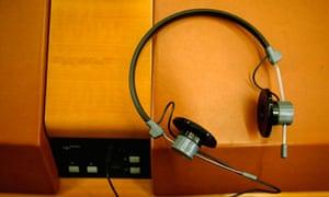 translator's headphones in the European parliament
