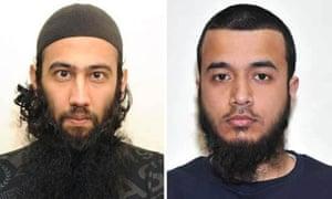 Luton terror plotters Zahid Iqbal, left, and Mohammed Sharfaraz Ahme