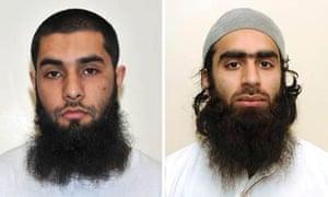 Luton terror plotters –  Umar Arshad, left, and Syed Farhan Hussain.
