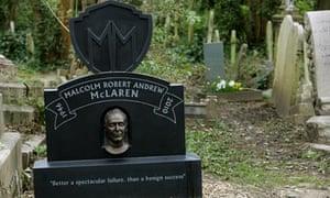 A head-scratcher: Malcom McLaren's grave in Highgate cemetery.