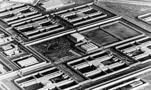 1983 aerial view of the H blocks at the Maze prison near Belfast