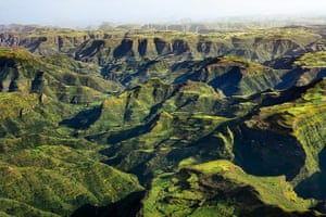 rift valley from above: Simien Mountains, Ethiopia.