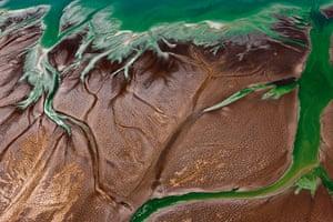 rift valley from above: Lake Bogoria, Kenya