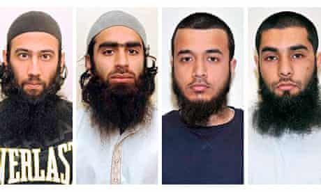 Four men convicted of preparing 'toy car' attack on Luton TA base