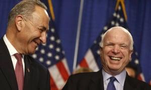 Charles Schumer and John McCain