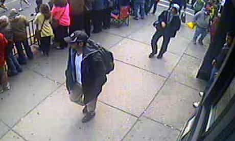 Still from surveillance video related to Boston Bombings