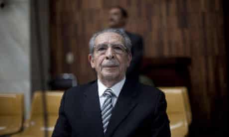Efrain Rios Montt trial in Guatemala