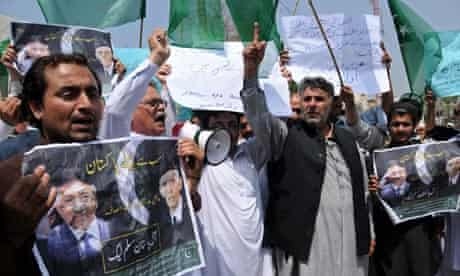 Musharraf's supporters protest against his arrest