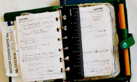 open appointment book