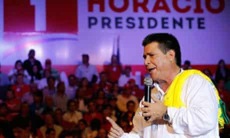 Paraguayan presidential candidate Horacio Cartes