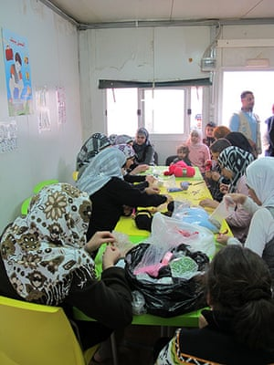 Zaatari refugee camp: Syrian refugees