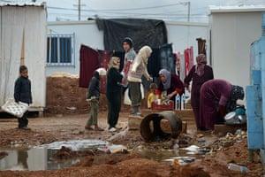 Zaatari refugee camp: Syrian Refugee Children Living In The Za'atari Camp