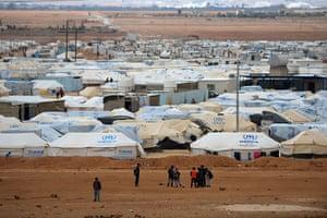 Zaatari refugee camp: Thousands Of Syrian Refugees Seek Shelter In Makeshift Camps In Jordan